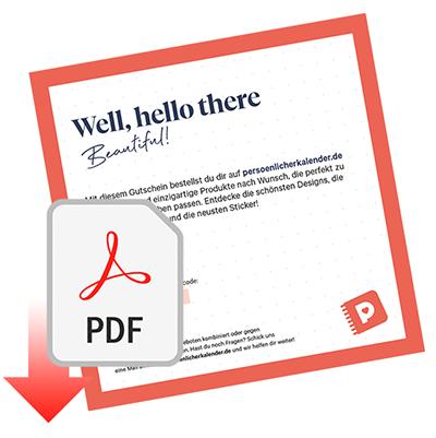 Geschenkgutschein Kalender, PDF
